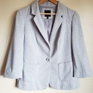 the limited grey sweatshirt one button blazer sz m